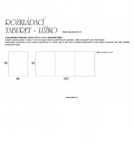 Rozkládací taburet lůžko-popisek