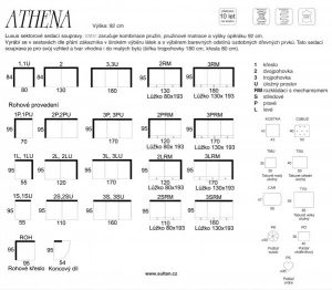 Sedací souprava Athena produktový leták