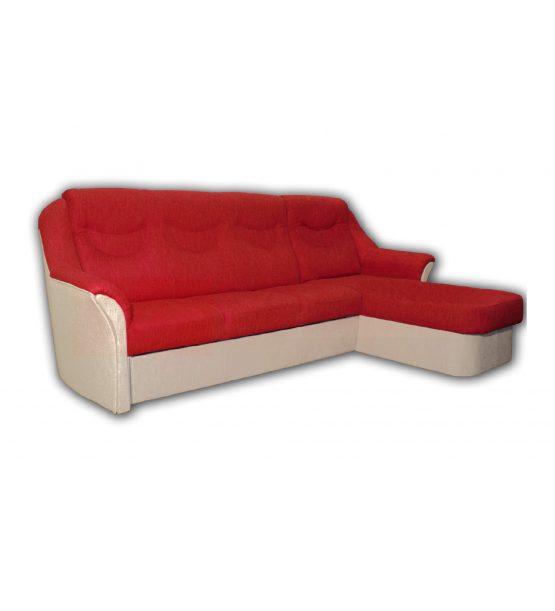 Rohová sedačka Lux s výklopným dílem, látka: Lotos 08 (Eu), koordinát Lotos 03 (Eu)